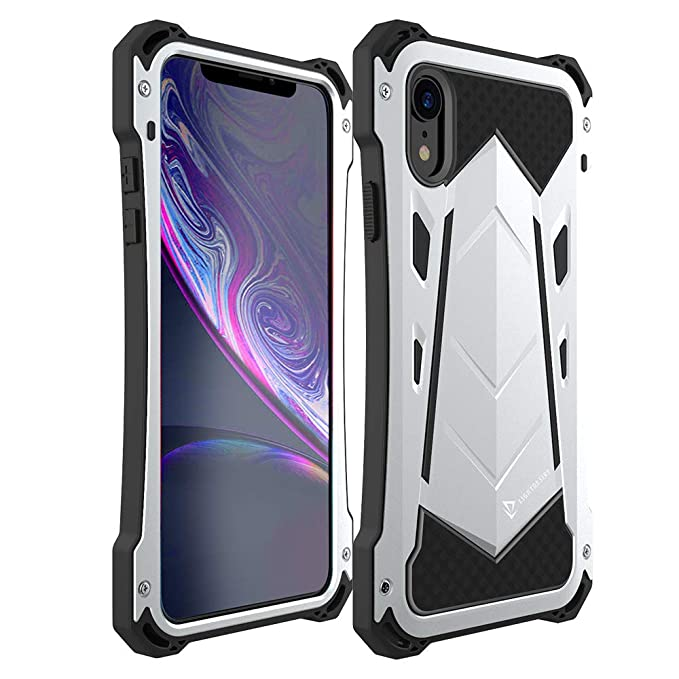 classic fit 7fb60 6aa3a iPhone XR Case, LIGHTDESIRE Corner Protection Shockproof Military Aluminium  Cover Case for iPhone XR (Silver)