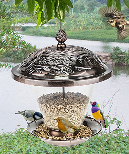 md-garden-bronze-metal-hanging-bird-feeder-with-decorative-lantern-appearance-design
