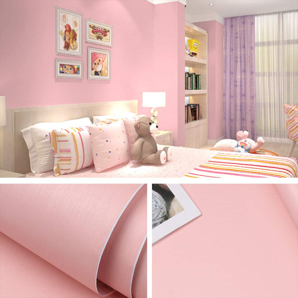 Color sólido papel tapiz autoadhesivo liso dormitorio papel tapiz ...