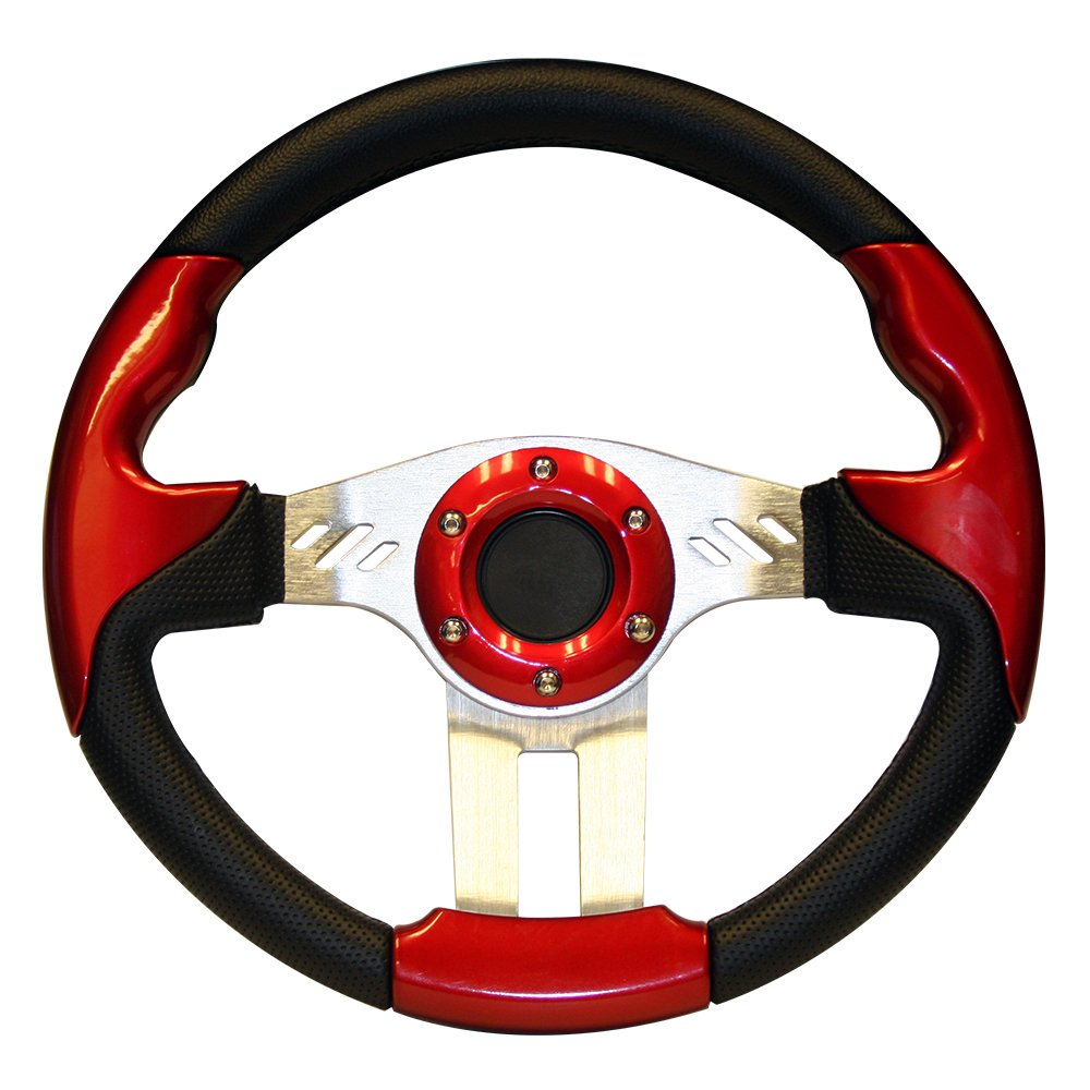 PF12054PKG 13 Inch EZGO Steering Wheel RXV with Black Adapter Black /& Blue