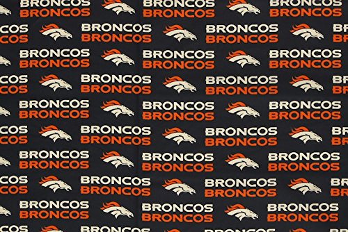 (Denver Broncos Football Navy Sheeting Fabric Cotton 5 Oz 58-60