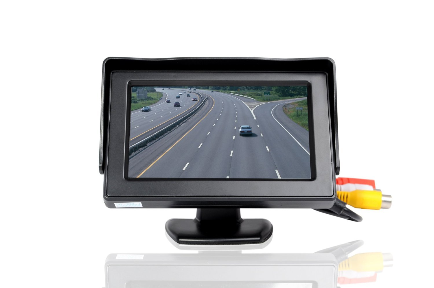 ATian 4.3 Inches Car Monitor TFT LCD Color Display Car Rear View Monitor Screen with 2 AV Input for Car Rear View Cameras, with Dash Mounting Stand and 3M Sticker, Fit for Almost All The Vehicles by ATian