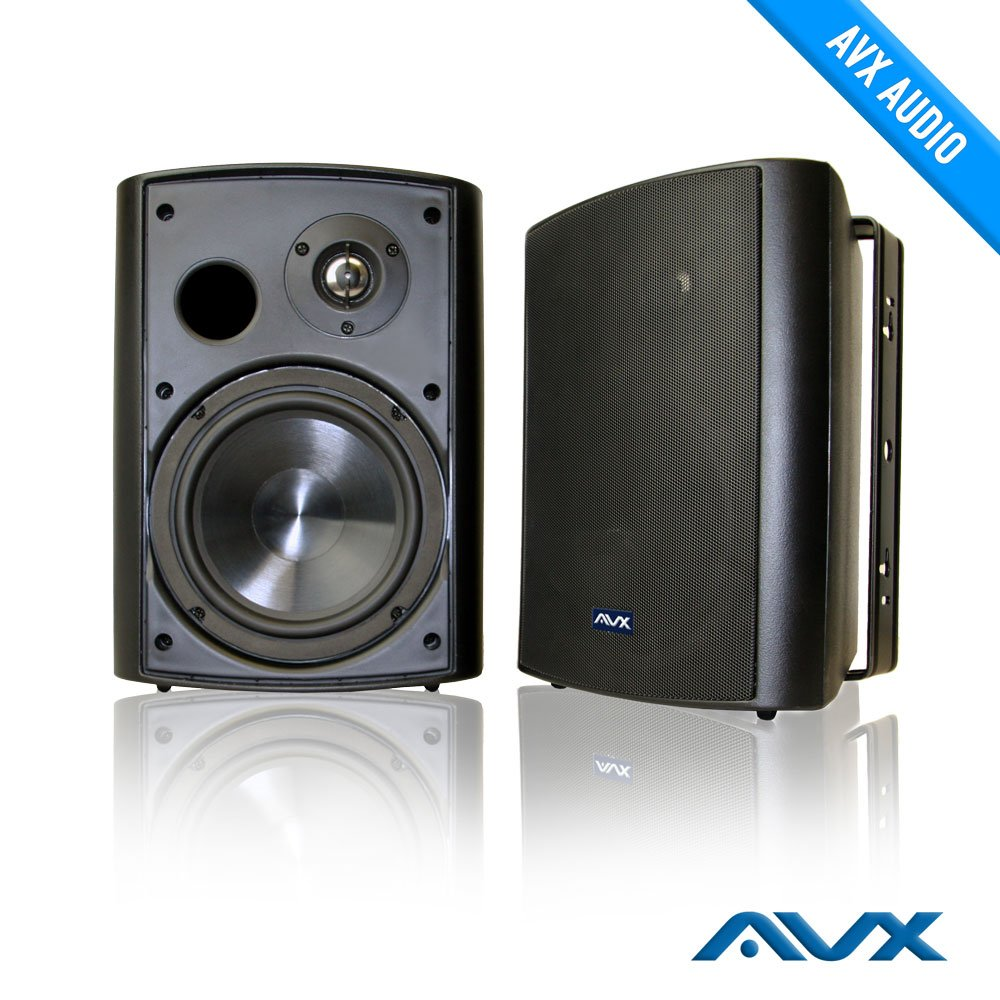 6.5'' Outdoor weatherproof patio speaker pair (black) PSP-B1 - by AVX Audio by AVX Audio