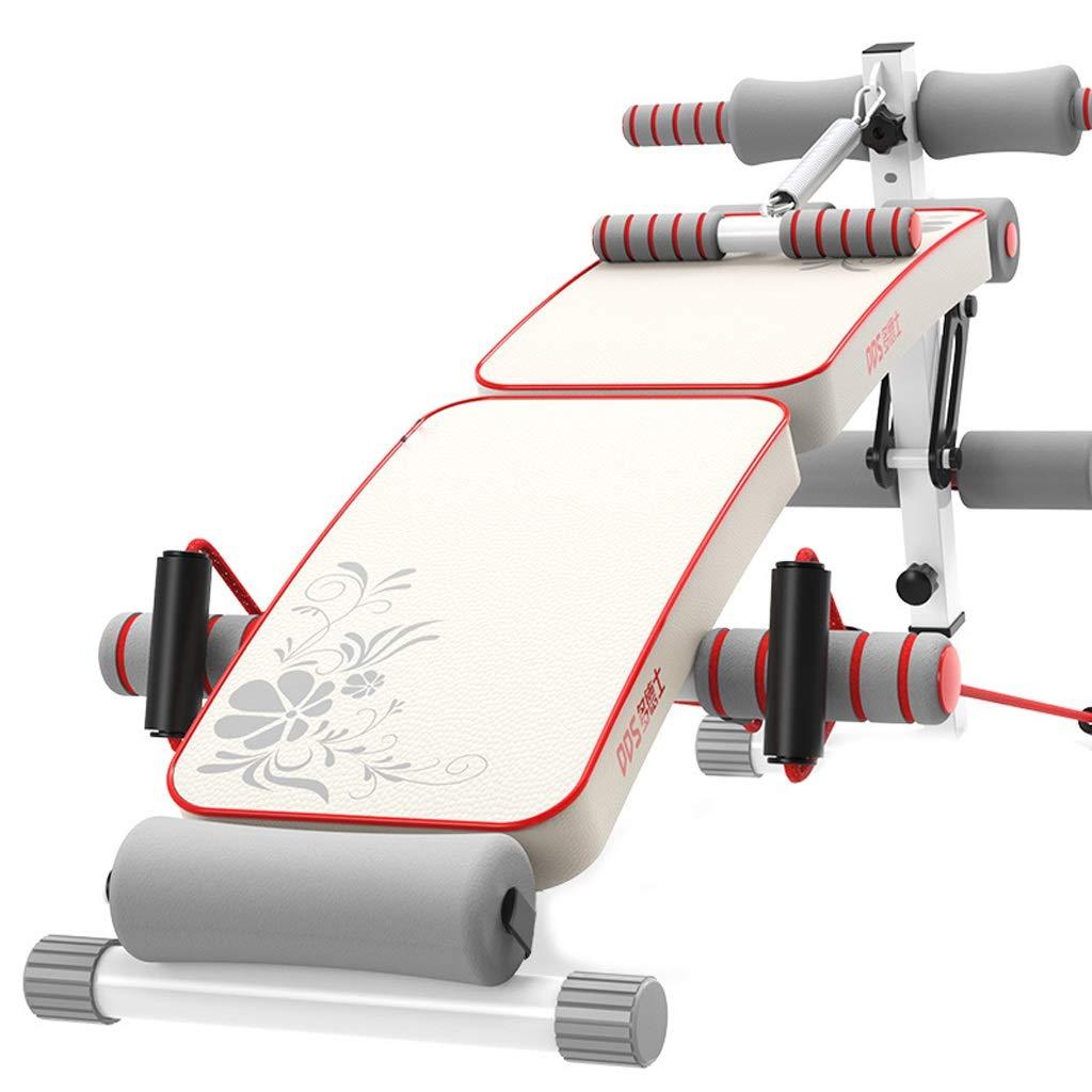 ZL Faltbare Sit Up AB-Bank-Steigungs-Abnahme-Trainings-Sitzbank, weiße Gewichts-Bank für vollen Körper-Training, Turnhallen-Sitz-Pad-Übungs-Gerät für Sport-Eignung