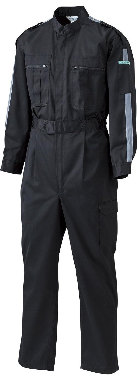[サンディスク]SUN DISK【ツナギ服】通年 国内染色 帯電防止素材 中厚地タイプ ラインアクセント 長袖続服《044-34/36》 B01F4CO1VW 5L|34-ブラック×グレーライン 34-ブラック×グレーライン 5L