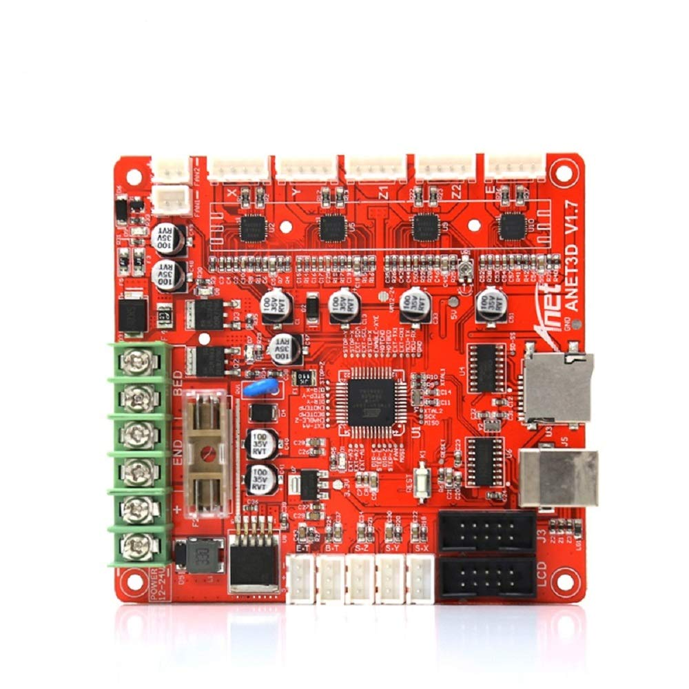 Anet V1.0 Replacement Self Assembly 12V Control Board Mainboard Mother Board for DIY Auto Levelling Anet A8 Plus 3D Desktop Printer RepRap i3 Kit - 1PCS
