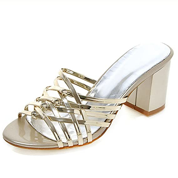 495c07ddf3418 Patent Leather Women Sandals Fashion Summer Women Shoes Ladies High ...