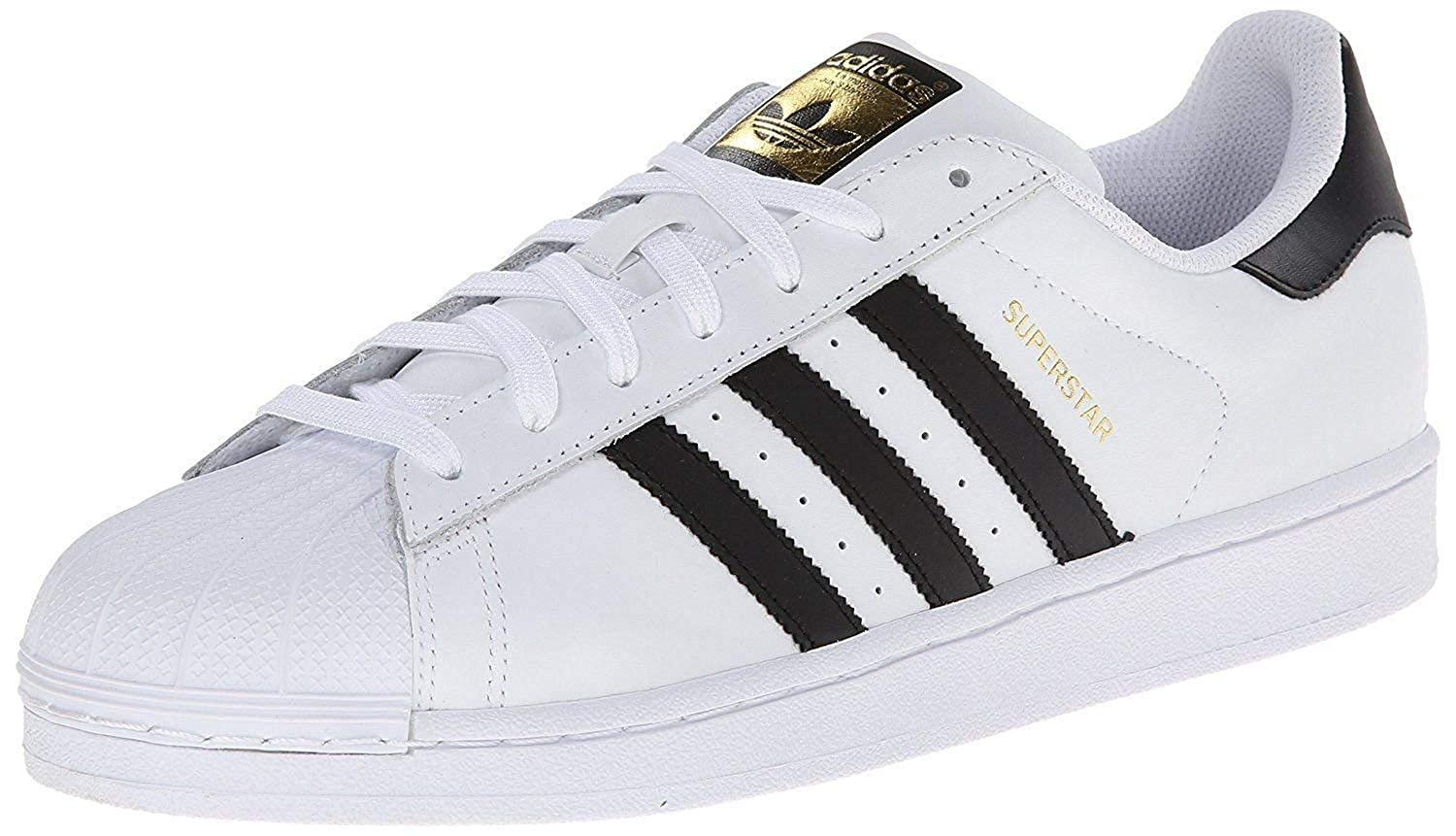 Adidas Superstar Men's Sneakers (11), White / Black, 11 D(M) US