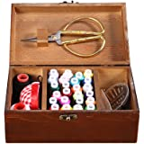 Wooden sewing basket/sewing box with 16 accessories, wife(Romantic Paris Tower)