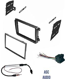amazon com scosche ai02ar audi bose car amplifier retenion asc double din car stereo radio dash kit wire harness and antenna adapter for