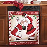 Kissing Santa Christmas Kitchen Dishwasher Cover, Large