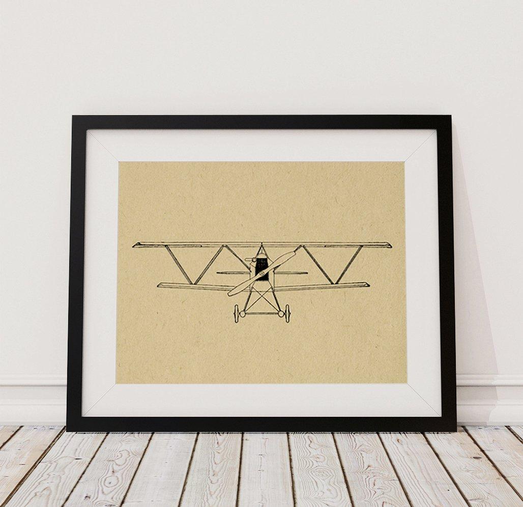 Amazon.com: Retro Airplane Wall Art Print Illustrated Airplane ...