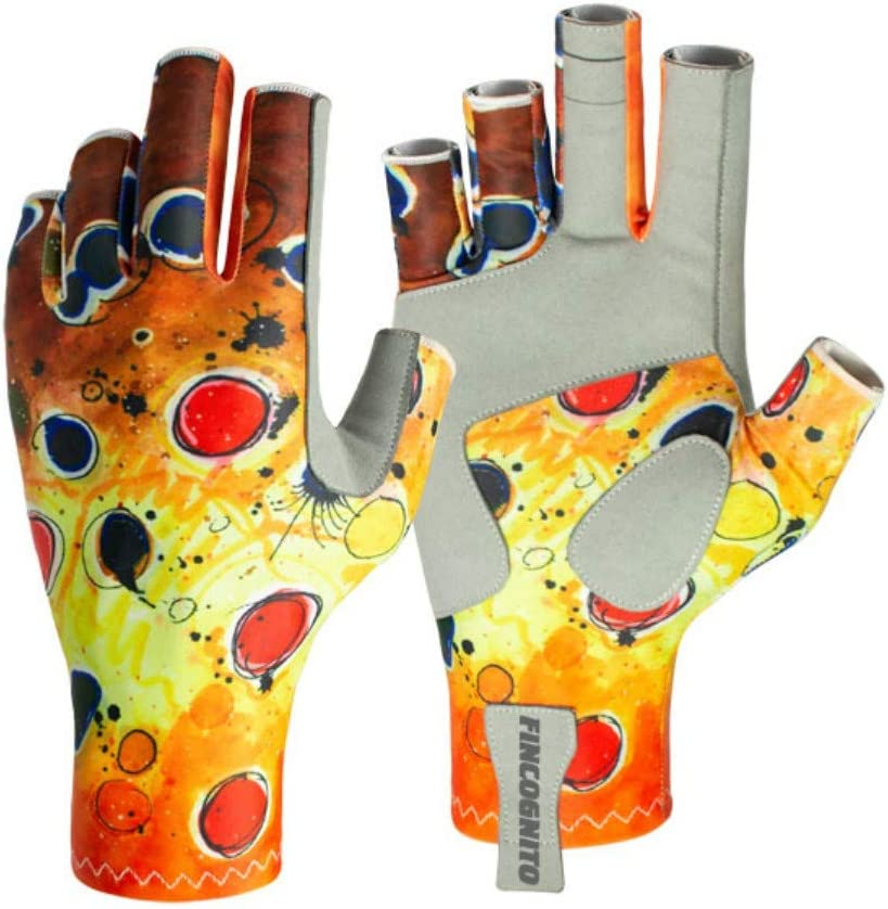 Fincognito Fishing Sun Gloves In Assorted Fish-Print Patterns and Sizes