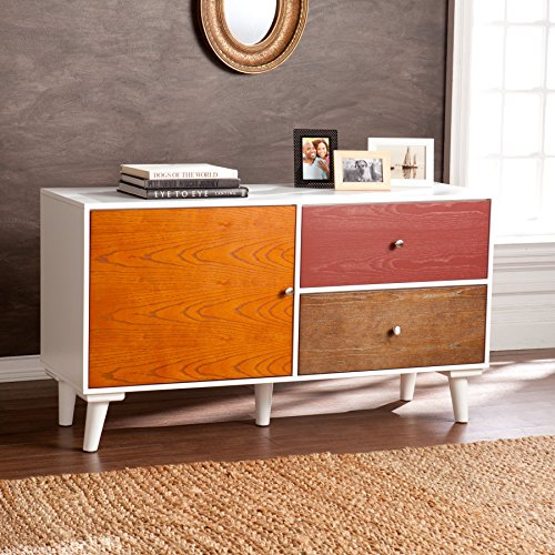 Sabrina Colorblock Poplar Anywhere Storage Cabinet/Console - Dining Room Painted Cabinet