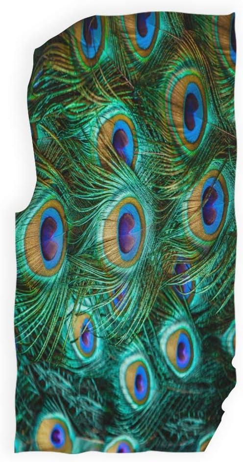 Mnsruu Serviette de Bain en Plumes de Paon Vert 76 x 38 cm