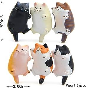BESPORTBLE Fat Cat Resin Fridge Magnets, Cartoon Animal Refrigerator Sticker, 5PCS Magnets Sticker for Fridge Sticker Phone Decor Five Style