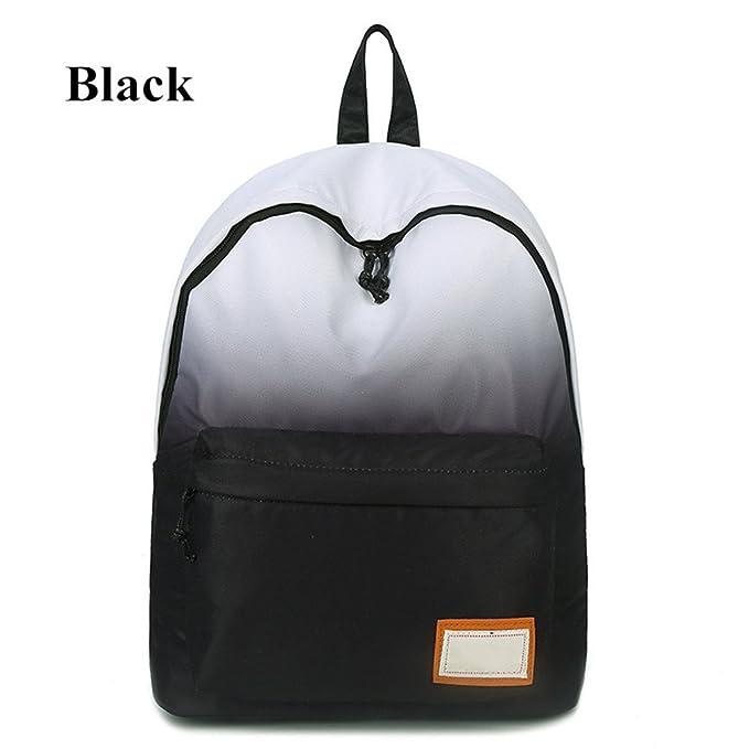 kaoling Las mujeres que imprimen las mochilas las bolsas de escuela del color del gradiente para