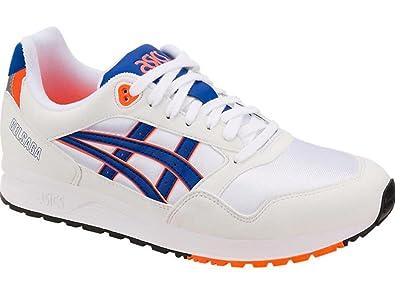 promo code 32a36 68ade Amazon.com | Asics Gel-Saga Running Shoes White/ASICS Blue ...
