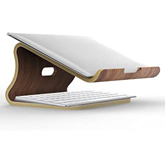 Macbook Laptop Computer Wood Desk Cooling Standing Organizer Holder Tray Mount