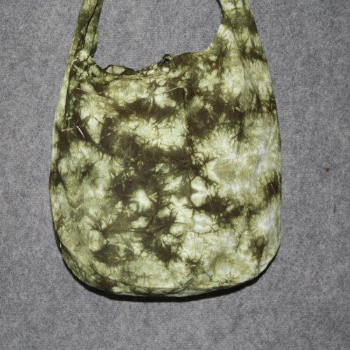 Superfreak® Tasche°Stofftasche - rund Tie dye-Batik Umhängetasche, alle Farben!!! grün