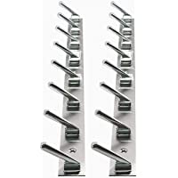 PROMIXO Stainless Steel 6 Pin Cloth Hooks for Door, Wall and Bathroom | Chrome Finish
