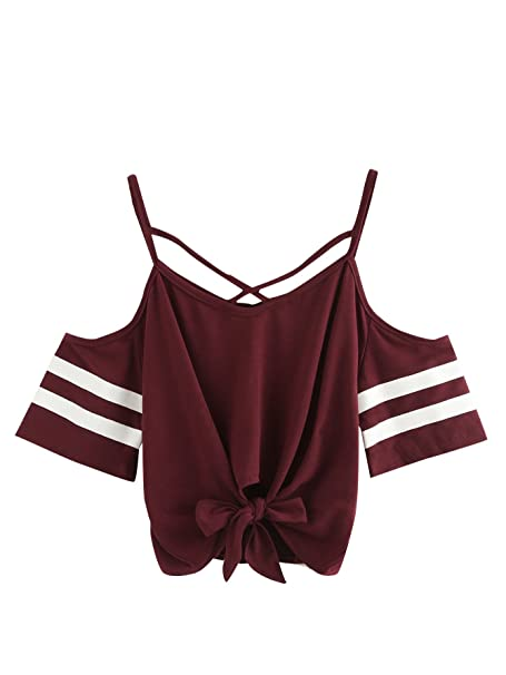 Amazon.com: SweatyRocks - Camiseta de manga corta para mujer ...