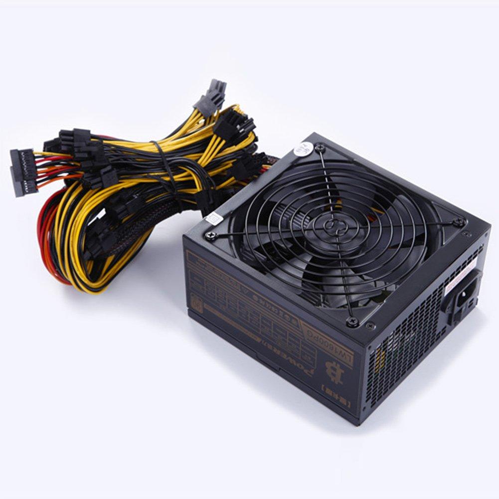 Rokoo Fuente de alimentación minera de 1600W 6 GPU modular para el ...