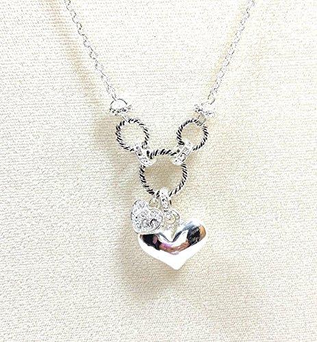 Avon Heart Charm Pendant Necklace Silvertone