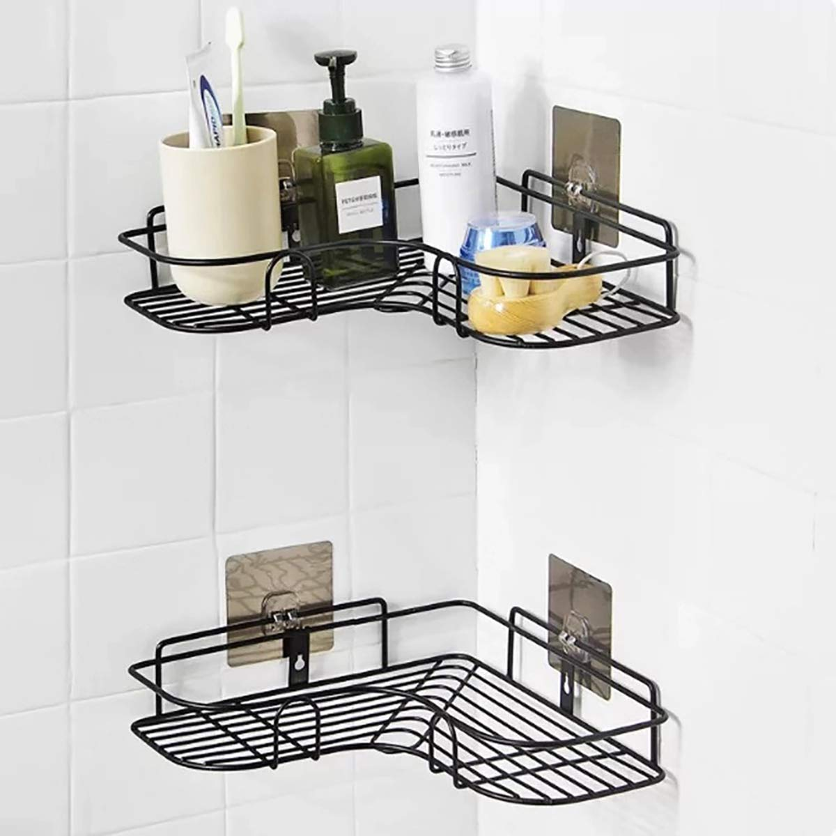 Diniva Multipurpose Kitchen Bathroom Corner Shelf Wall Mount Storage Rack  Bathroom Rack Soap Holder Storage Box Shower Rack Shelf, Bathroom Racks and  Shelves, Bathroom Stands and Racks (Black): Amazon.in: Home Improvement