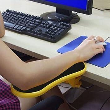Yanghx Ergonomische Verstellbare Computer Schreibtisch Verlängerung Mit Handgelenkstütze Gelb Baumarkt