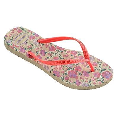 a64da3697 Image Unavailable. Image not available for. Color  Havaianas Women s Slim  Romance Flip Flops ...