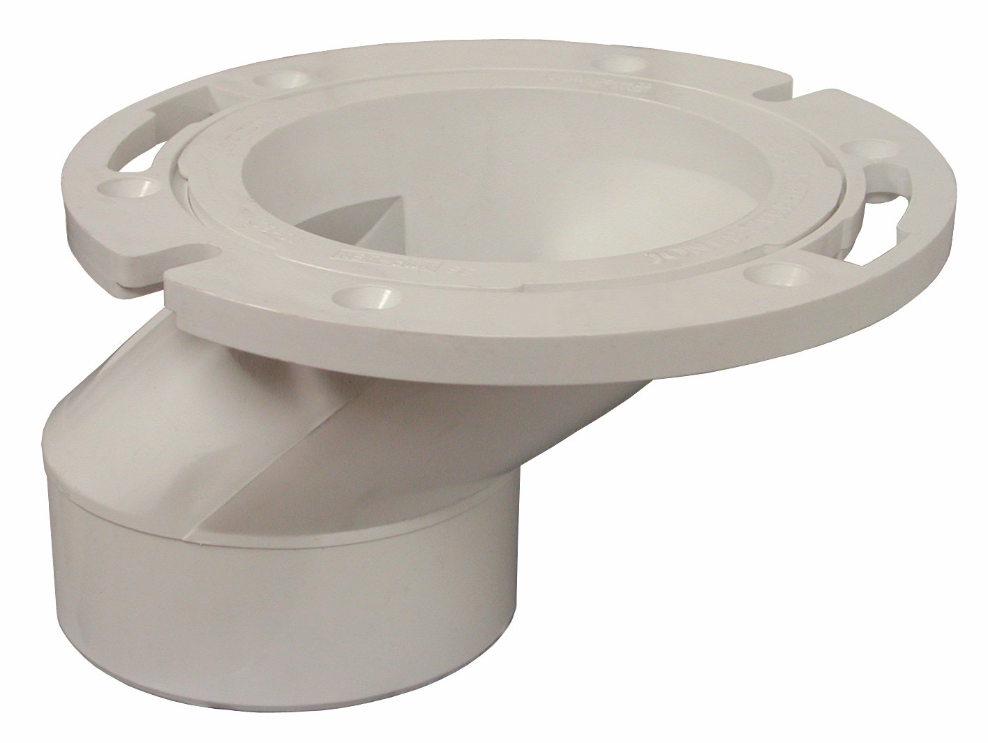 PlumBest C54402 3-Inch by 4-Inch PVC Offset Closet Flange with ...