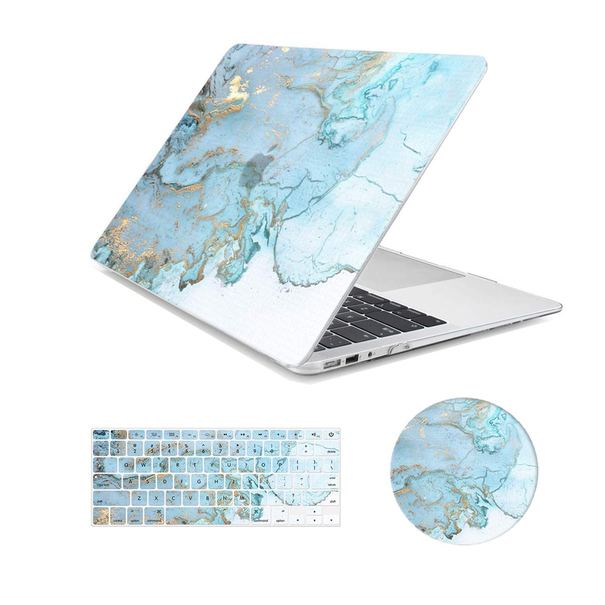 MacBook Air 13 inch Case,Arike Marble Design Slim Plastic Hard Case with Keyboard Cover & Mouse Pad Compatible for MacBook Air 13'' Old Version 2010-2017 (A1466 &A1369) by Arike