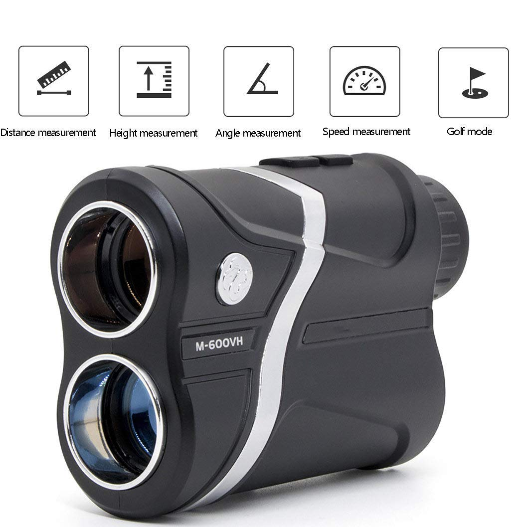 JGCJYYH 600M/1000M/1500M Golf Rangefinder,Golf Range Finder,7X Magnification,with Flag-Lock,Fog,Hunting,Distance Speed and Continuous Scan Measure Function by JGCJYYH