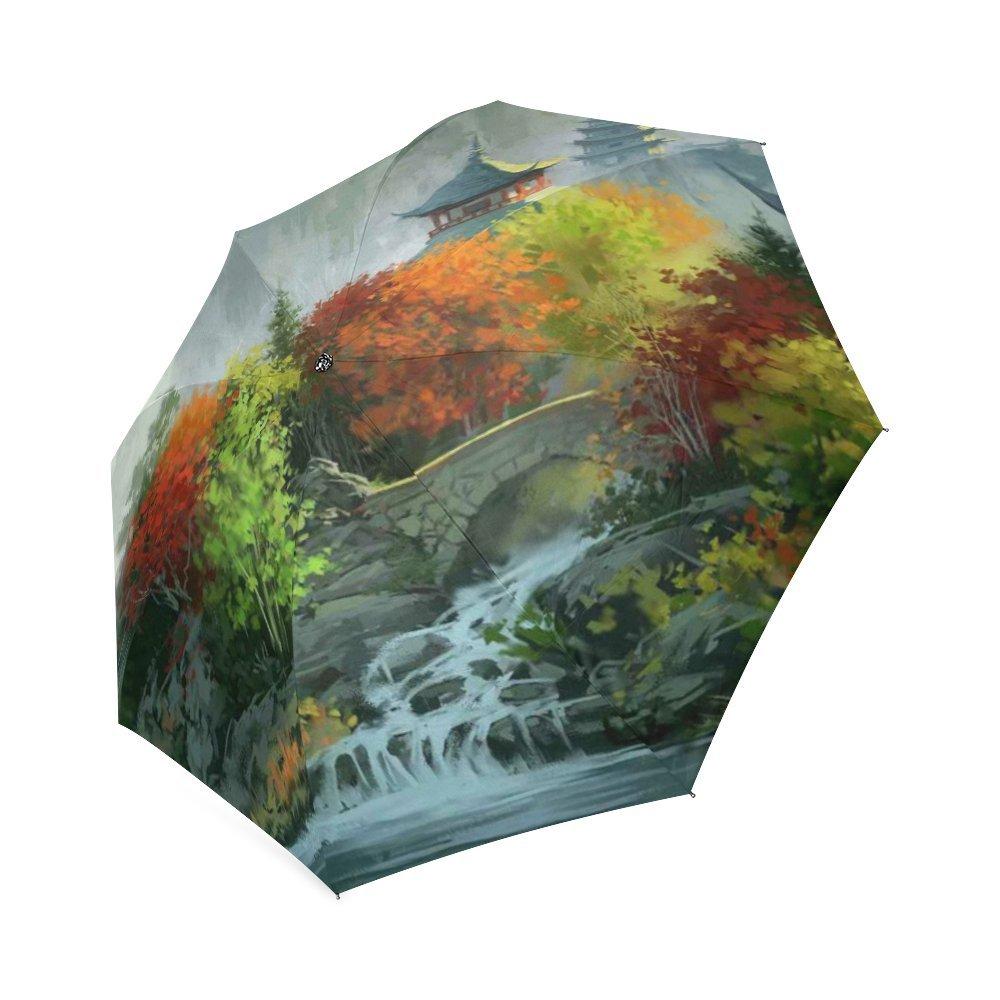 カスタマイズUnique Valley折りたたみ雨傘/パラソル/太陽傘 B076BN2VHL
