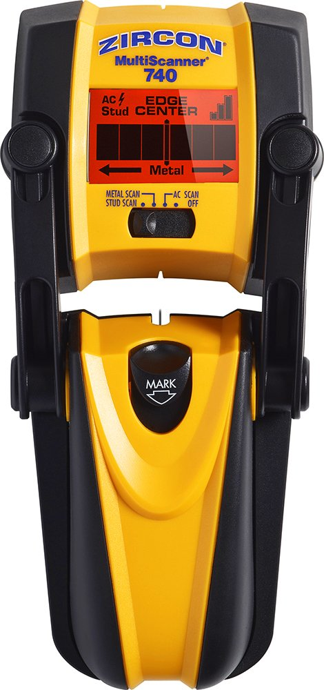 Zircon MultiScanner 740 Electronic Wall Scanner with Built-In Erasable Wall Marker/Center Finding and Edge Finding Stud Finder/Metal Detector/Live AC Wire Detection - FFP