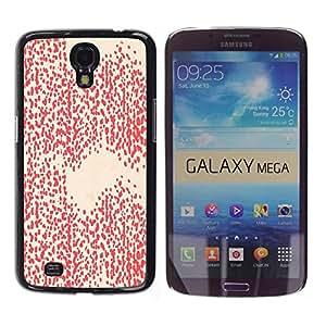 TopCaseStore / la caja del caucho duro de la cubierta de protección de la piel - Pink Peach Pattern Dots Abstract - Samsung Galaxy Mega 6.3 I9200 SGH-i527