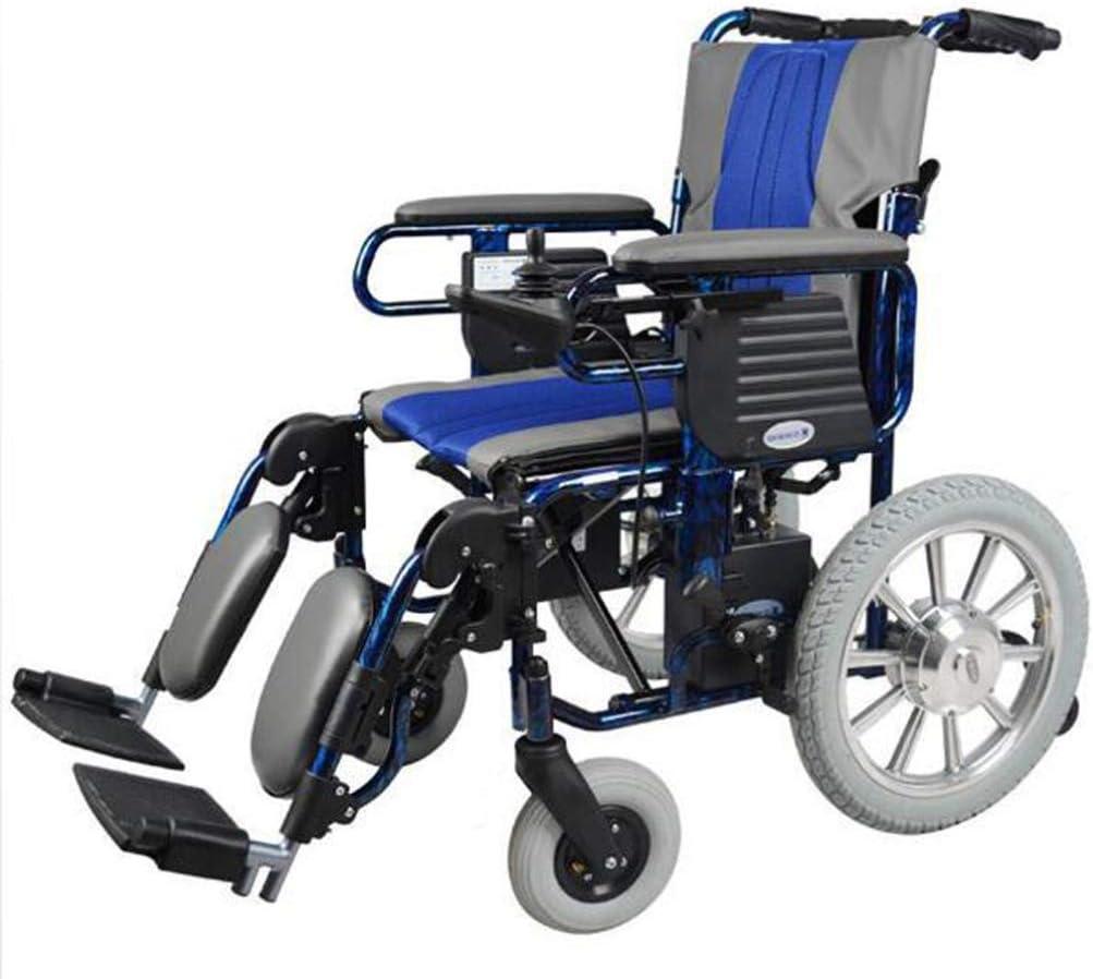YOLL L&T Silla De Ruedas Inteligente Silla De Ruedas Eléctrica Power Chair Plegable Wheelchair Ligera De La Aleación De Aluminio Silla,conduzca con Potencia O Use como Silla De Ruedas Manual a