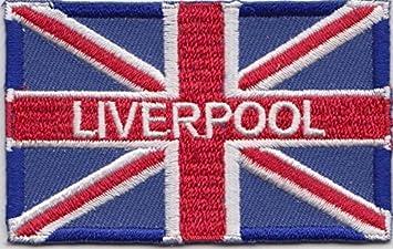 La bandera del Reino Unido Liverpool bordado escudo del Real Mallorca