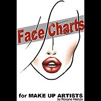 Face Charts: Vorlagen für Make Up Artists (German Edition)