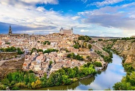ZZXSY Puzzles De Madera 1000 Piezas Toledo España Ciudad Vieja Ciudad Horizonte Apto: Amazon.es: Hogar