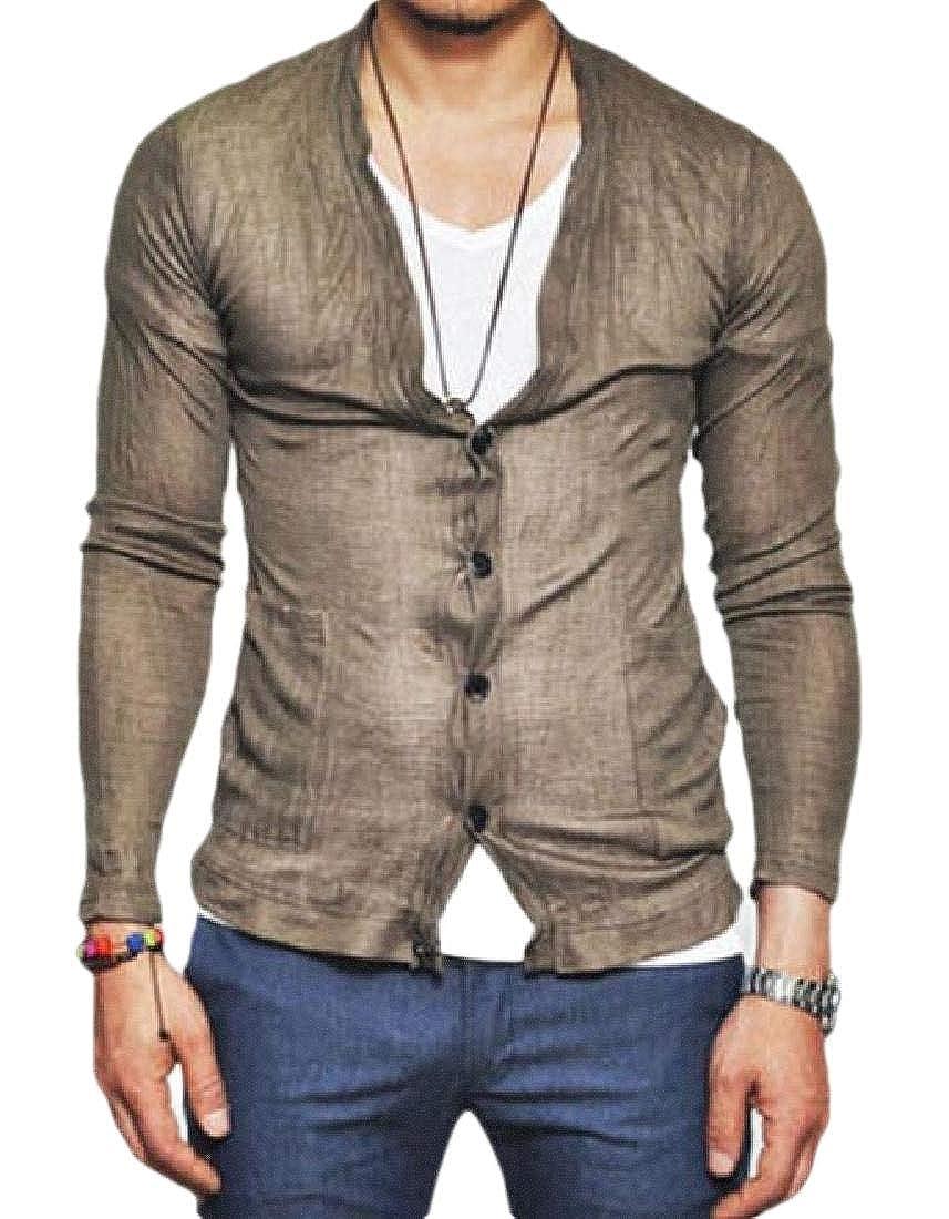 Xswsy XG Mens Cotton Linen Fashion Shirts Long Sleeve Button Down Shirts