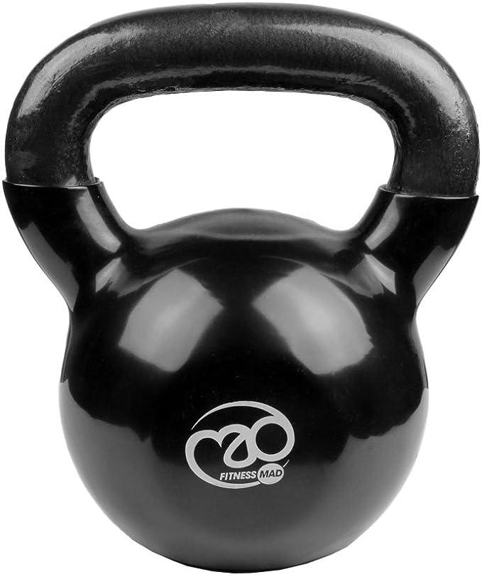 Fitness Mad Kettlebell - Pesa rusa de ejercicio y fitness, color negro, peso 24 kg: Amazon.es: Deportes y aire libre