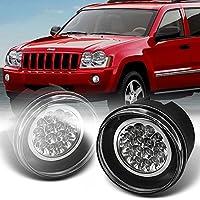 For Dodge Dakota Durango | Chrysler Aspen 300 Clear Lens LED Fog Light Lamps W/Wiring + Switch