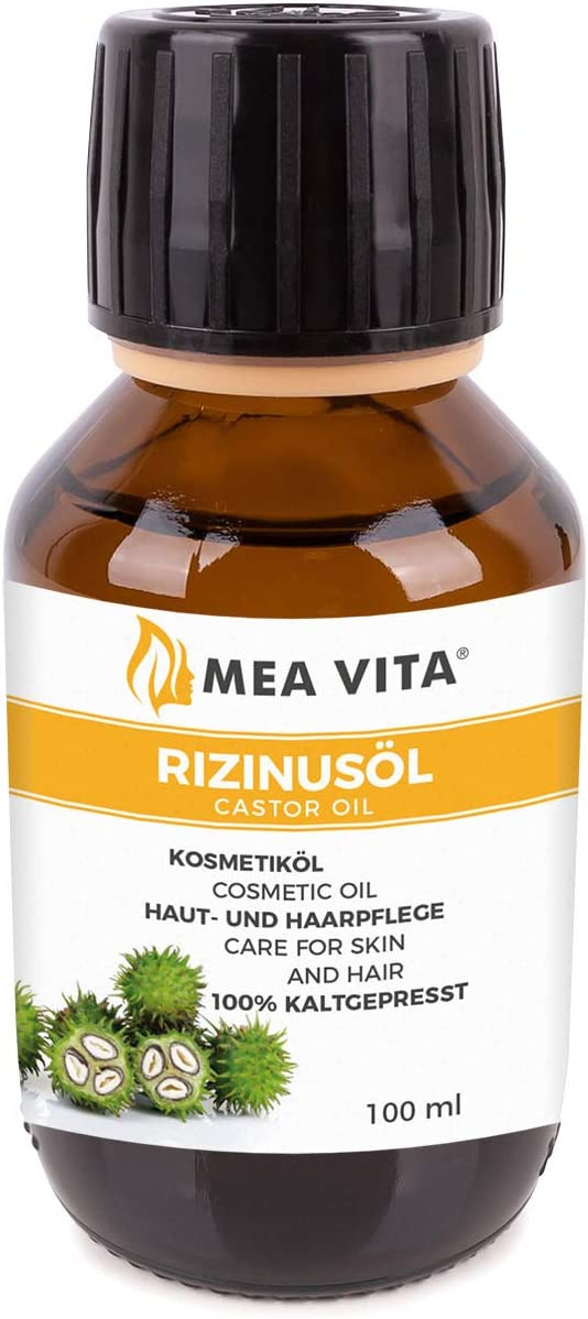 MeaVita - Aceite de ricino puro, natural, vegano, sin hexano, no OGM, 100 ml