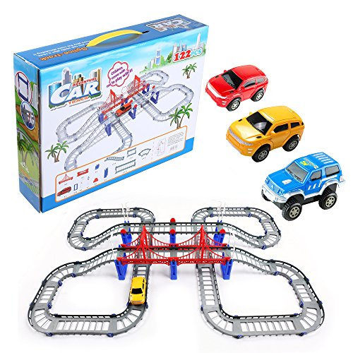 Battery Operated Classic Roller Coaster Train and Track Play Set, Great Christmas Gift for (Classic Steam Train Collection)