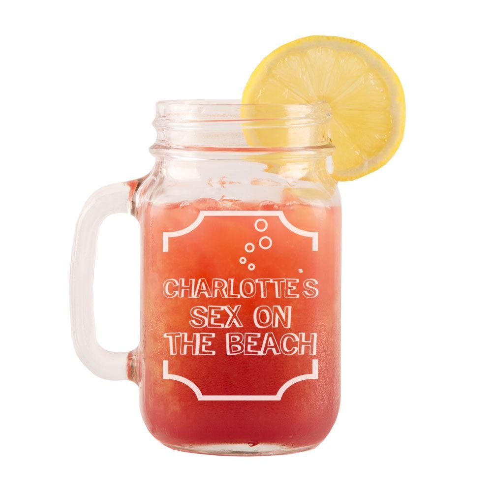 Personalised Sex On The Beach Glass Mason Jar, Name Cocktail Glass,  Personalised Glassware: Amazon.co.uk: Kitchen U0026 Home