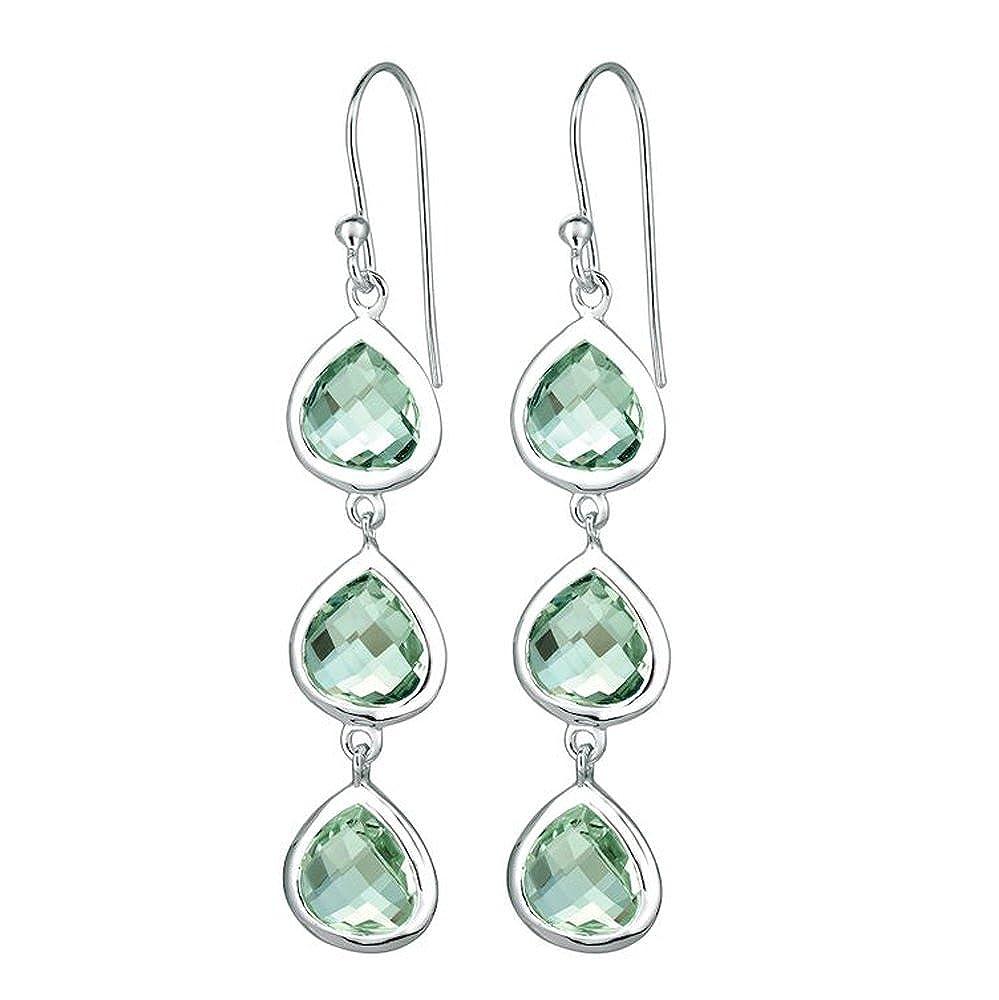Green Amethyst Gemstone Dangle Earring