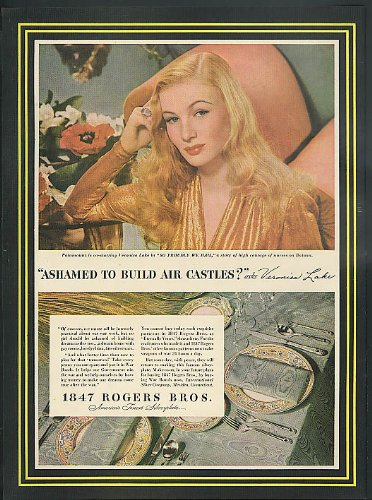 Veronica Lake in So Proudly We Hail for 1847 Rogers Bros Silverware ad 1943 ()