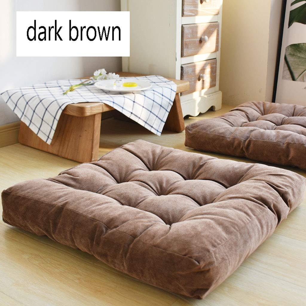 Colore : Gray, Dimensioni : 55x55cm Cuscino Tatami in Peluche di Velluto a Coste Cuscino per Balcone Imbottito a Pavimento Futon Balcone Yoga Beautiful 55x55cm ZXW Cuscino